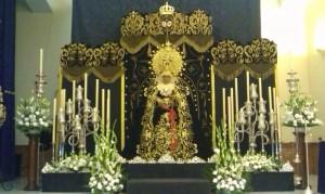Altar de besamanos de Nuestra Señora de los Dolores/Foto: @OracionHuertoDH